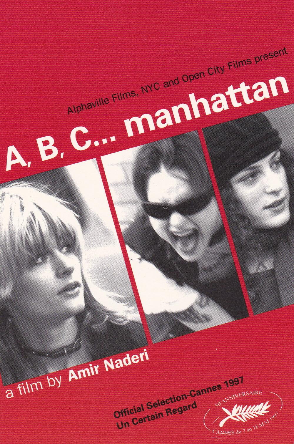 a, b, c... manhattan, by amir naderi